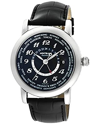 [Mont Blanc] MONTBLANC watch STAR WORLDTIME black dial automatic winding 109285 Men's parallel import goods]