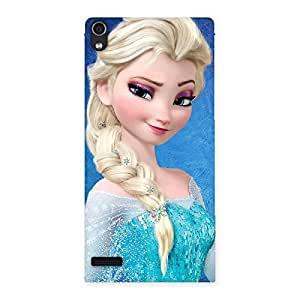 Enticing Winked Princess Freez Multicolor Back Case Cover for Ascend P6