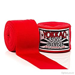Yokkao 5m Elasticated Hand Wraps - Red