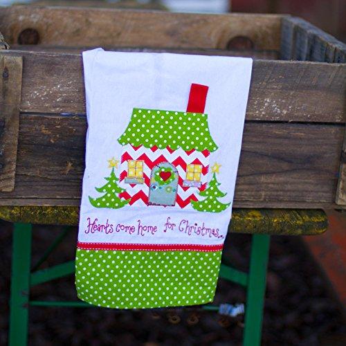 Hearts Come Home For Christmas Tea Towel