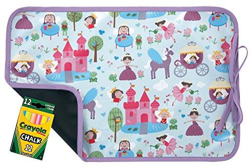 AM PM Kids! Reversible Placemat/Chalkboard, Fairy Princess