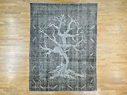 10\'x13\' Overdyed Persian Tabriz Barjasta Tree Of Life Design Rug G25121