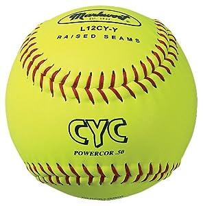 Markwort 12-Inch Optic-Yellow CYC Softball (Dozen) by Markwort