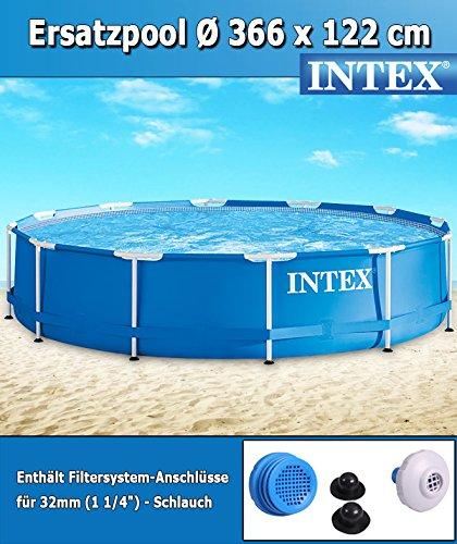intex 366x122 cm schwimmbecken swimming pool schwimmbad ersatzpool frame metal 28904. Black Bedroom Furniture Sets. Home Design Ideas