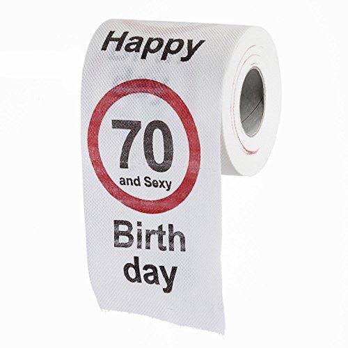 Lustiges fun klopapier zum 70 geburtstag toilettenpapier for Geschenk 70 geburtstag vater