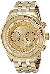 Vince Camuto Men's VC/1044GDGP The Admiral Chronograph Multi-Function Dial Gold-Tone Bracelet Watch