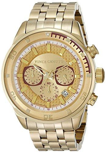 Vince Camuto - VC/1044GDGP - Montre Mixte - Quartz - Analogique - Bracelet Acier inoxydable doré