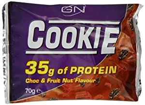 Garnell Nutrition Protein Cookie 70g Chocolate Fruit and Nut Pack of 12