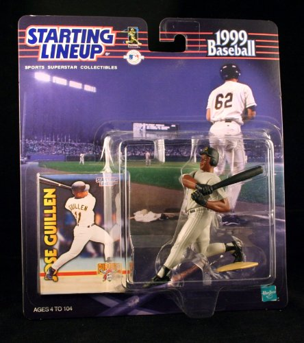 JOSE GUILLEN / PITTSBURGH PIRATES 1999 MLB Starting Lineup Action Figure & Exclusive Collector Trading Card