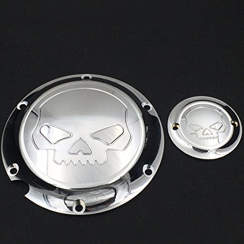 XKMT-Motorcycle Black Skull Engine Derby Timer Cover For For Harley Davidson XL1200C Sportster 883 XL 1200X Forty-Eight Seventy Two Roadster Iron (Sportster Timer Cover compare prices)
