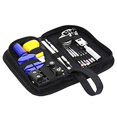 MLXGER® Professional Watch Repair Tool Kit Set, Antimagnetic Screwdriver, Portable Tool Kit, Perfect Kit Watchmaker