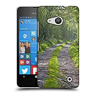 Snoogg Abstract Pathway Designer Protective Phone Back Case Cover For Nokia Lumia 550