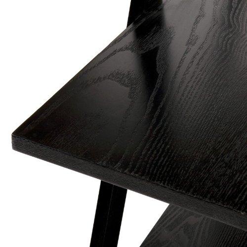 """Storage Shelf with """"X"""" Frames in Black Finish"""