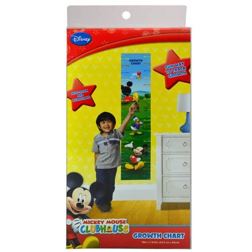 Mickey Mouse Clubhouse Disney Growth Chart (36 x 7.875) Self Stick and Removable Chart