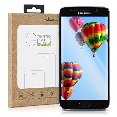 kalibri-Echtglas-Displayschutz-fr-Samsung-Galaxy-S7-edge-3D-Curved-Full-Cover-Screen-Protector-mit-Rahmen-in-Schwarz