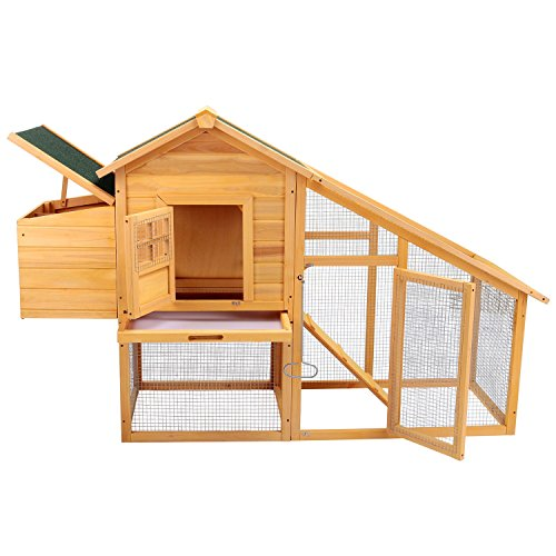 Holi-us-75-Wooden-Chicken-Coop-Hen-House-Poultry-Cage-Rabbit-Hutch-Backyard-wNest-Box
