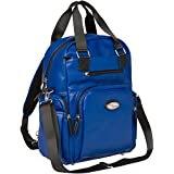 BooPeeDo By Access Denied Faux Leather Fashion Diaper Bag Backpack With RFID Blocking Pocket (Royal Blue)