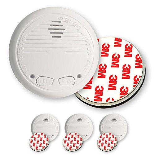 3 Nemaxx WL2 Funkrauchmelder Rauchmelder Brandmelder Set Funk koppelbar vernetzt - nach EN 14604 + 3x NX1 Quickfix Magnet