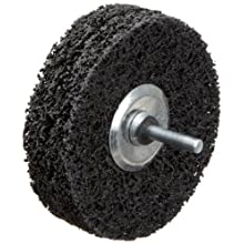 "Norton Rapid Strip Non-Woven Drill Mount Wheel, 4"" Diameter x 1"" Width, Grit Coarse (Pack of 1)"
