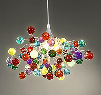 multicoloured chandelier ceiling light colorful lamps
