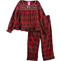 "J. Khaki ""Pretty Plaid"" Red Girls Flannel Pajamas Set (4/5)"