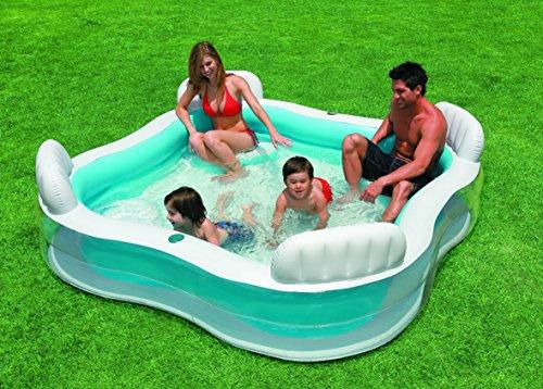 Intex piscina hinchable con asientos 882 l tienda arquitexs tienda arquitexs - Piscina hinchable con asientos ...