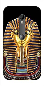 Timpax Light Weight One-piece construction Hard Back Case Cover Printed Design : A egyptian king.100% Compatible with Motorola Moto-G-3 ( 3rd Gen )