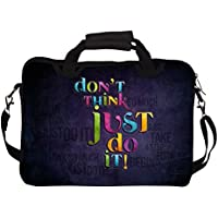 "Snoogg Best Cool Typography 14"" 14.5"" 14.6"" Inch Laptop Notebook SlipCase With Shoulder Strap Handle Sleeve Soft..."