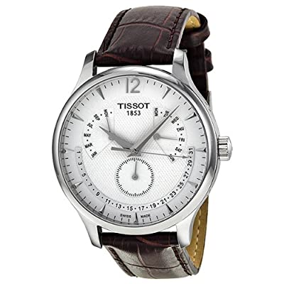 Tissot Tradition Silver Dial Stainless Steel Case Mens Watch T0636371603700 from Tissot