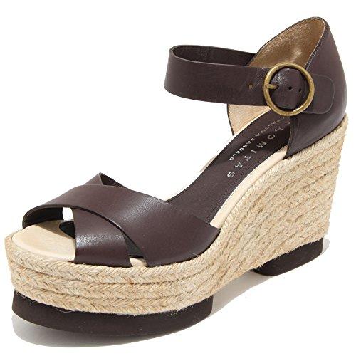 8556I PALOMITAS sandalo donna sandals shoes woman marrone [38]