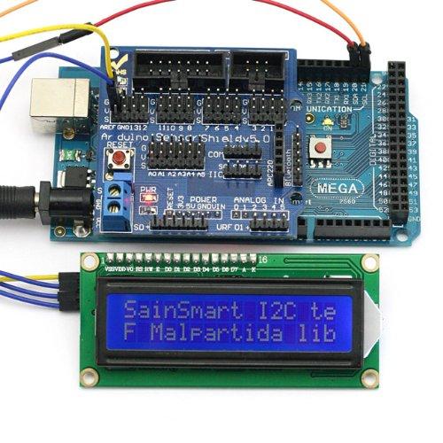 Sainsmart C39 Kit With Mega, Atmega2560 + Sensor Shield V5 + Iic/I2C/Twi 1602 Serial Lcd Module Display For Arduino Uno R3 Mega Mega2560 Nano Due Duemilanove Avr Atmel Robot Xbee Zigbee