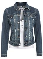 SS7 Women's Mid Wash Denim Jacket, Size, 6 to 14