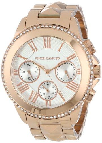 Vince Camuto  VC/5156SVRG - Reloj de cuarzo para mujer, con correa de acero inoxidable, color oro rosa