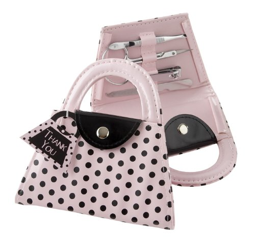 Kate Aspen 'Pink Polka Purse' Manicure Set, Pink