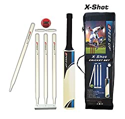 Speed Up X-Shot Size 4 Combo Cricket Kit (Multicolor)