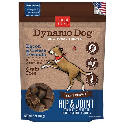 Cloud Star Dynamo Dog Functional Treats Hip & Joint Bacon &