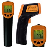HDE High Accuracy Non-Contact Infrared IR Temperature Gun Digital Thermometer with Laser Sight Targeting