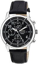 Comprar Seiko SNDC33P1 - Reloj cronógrafo de caballero de cuarzo con correa de piel negra - sumergible a 100 metros