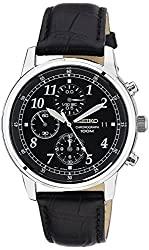 Seiko Dress Chronograph Black Dial Mens Watch - SNDC33P1