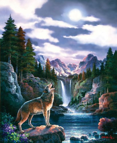 Wolf Moon a 1500-Piece Jigsaw Puzzle