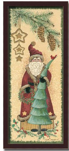 Old World Vintage Santa Claus Christmas Gift Framed