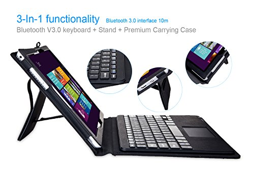 Hapurs Microsoft Surface Pro 3 wireless Bluetooth Keyboard Case with Touchpad - Portfolio