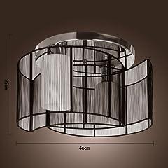 LightInTheBox® Black Semi Flush Mount with 2 Lights, Mini Style Chandeliers Modern Ceiling Light Fixture for Hallway, Dining Room, Living Room