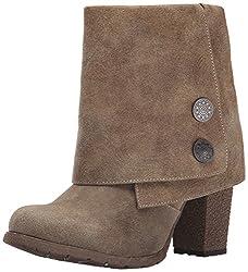 Muk Luks Women s Chris Embossed Cuff Winter Boot Brown 6 B(M) US