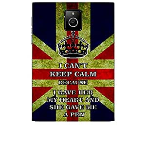 Skin4gadgets I CAN'T KEEP CALM BECAUSE I gave her my heart and she gave me a pen - Colour - UK Flag Phone Skin for BLACKBERRY PASSPORT