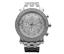 New Mens Jojo/Jojino/Joe Rodeo Silver Metal Genuine Real Diamond Watch MJ1054