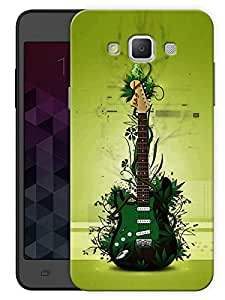 "Humor Gang Green Eco Friendly Guitar - Music Printed Designer Mobile Back Cover For ""Samsung Galaxy A7"" (3D, Matte, Premium Quality Snap On Case)"