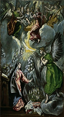 'El Greco Annunciation 1596 1600 ' Oil Painting, 10 X 18 Inch / 25 X 47 Cm ,printed On Perfect Effect Canvas ,this Imitations Art DecorativeCanvas Prints Is Perfectly Suitalbe For Living Room Artwork And Home Decor And Gifts
