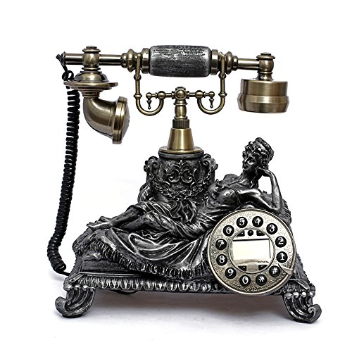 Retro Vintage Antique Style Push Button Dial Desk Telephone Phone Home Living Room Decor