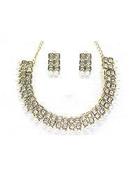 Designer Austrian Diamond Necklace Set By Zaveri Pearls - B00NEF3S70